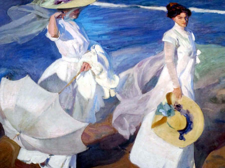 Gemälde von Sorolla mit zwei weiß gekleideten Frauen