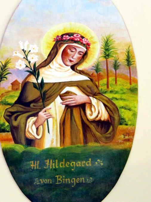 Gemälde der Äbtissin Hildegard von Bingen