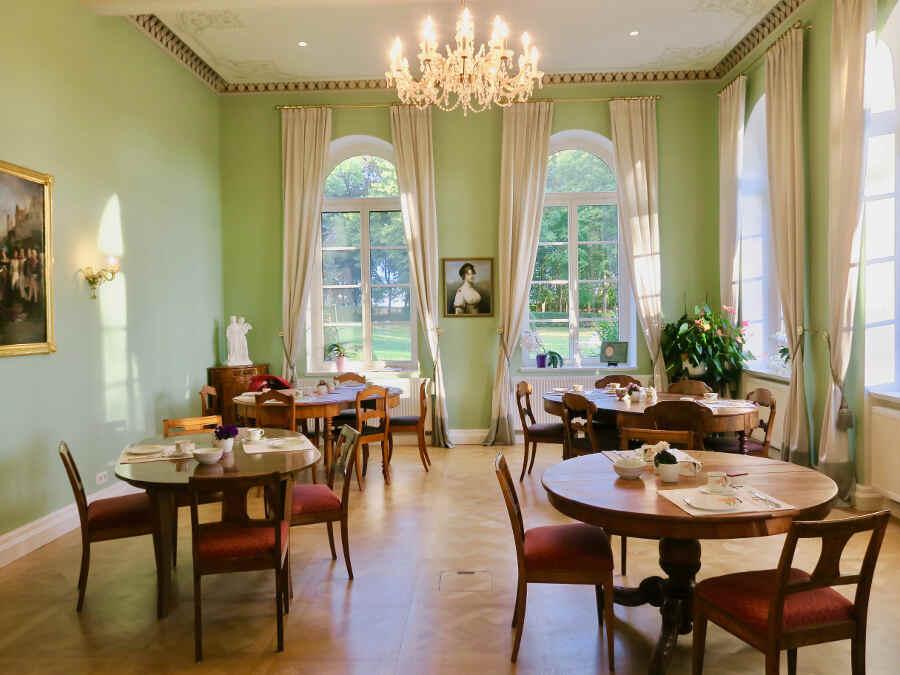 Der Luisen-Salon im Schlosshotel Marihn in Mecklenburg