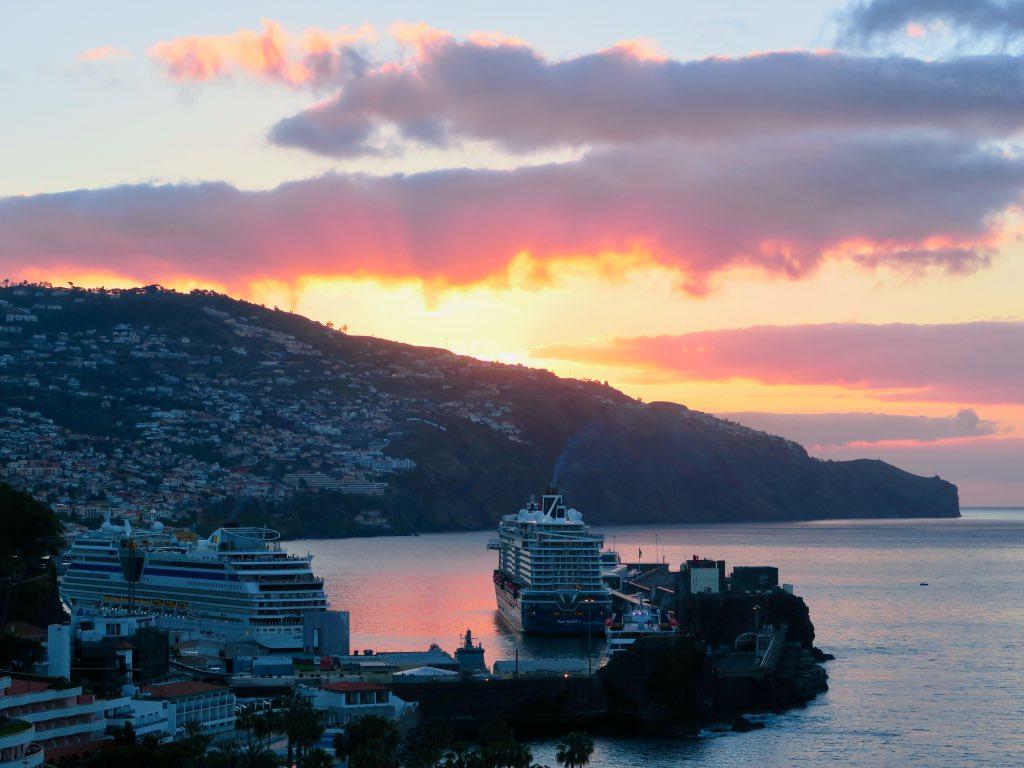 Funchal ist ein beliebter Hafen für Kreuzfahrtschiffe ©DDAVID